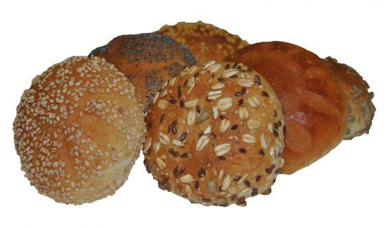 Mini broodjes wit gesorteerd (per 6)